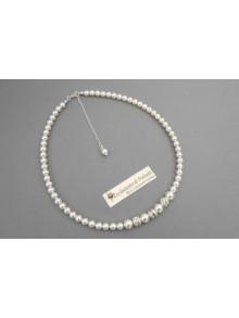 Collier de mariage Ophélia rétro perles et strassl