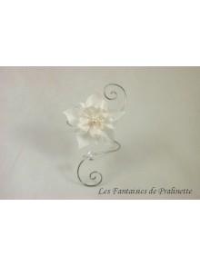 Armeli, bracelet de mariage arabesques et fleurs en satin