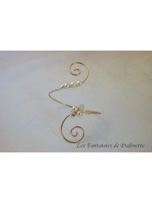 Bracelet torque Mariana perles en cristal