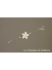 Bracelet Artem mariée fleur en satin