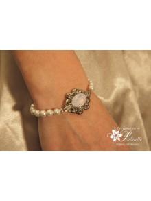Bracelet Rose-May de mariage perles