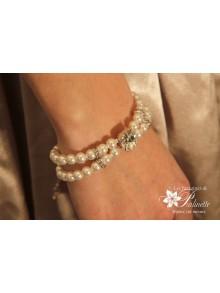 Bracelet Anna de mariage perles style rétro