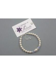 Bracelet Armelle de mariage perles et strass
