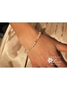 Bracelet Lauren de mariage perles et cristal