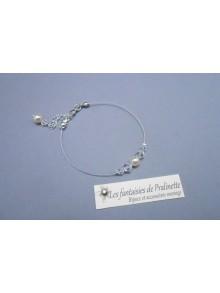 Bracelet Amina perles en cristal et cristal nacré