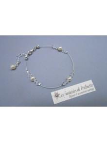 Bracelet Aure perles en cristal et cristal nacré
