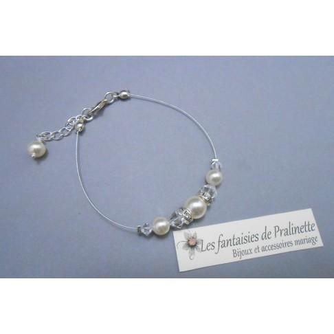 Bracelet Hélia perles en cristal et strass