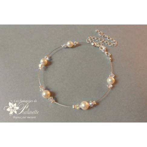 Bracelet Abella parsemé de perles en cristal