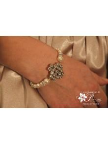 Bracelet Nissima de mariée rétro vintage perles et strass