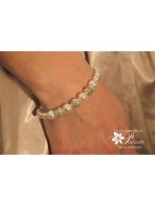 Bracelet Ophélia de mariage perles et cristal strass