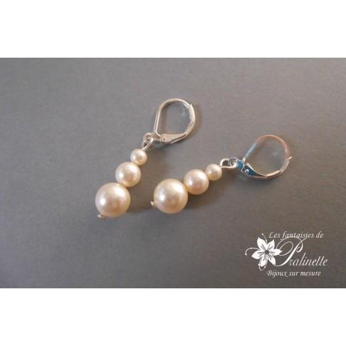 Artem boucles d'oreilles mariage en perles