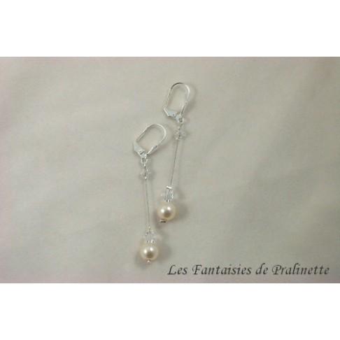 Boucles d'oreilles mariées Larmes