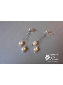 Boucles d'oreilles Ange perles en cristal nacré