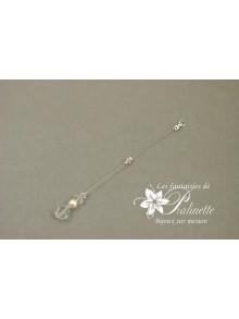 Bijoux de dos mariage Apoline en perles de cristal
