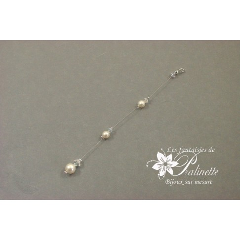 Bijoux de dos mariage Larmes en perles de cristal
