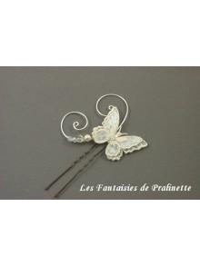 Pic papillon voile et arabesques
