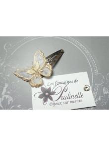 Pince à cheveux mariage papillon voile