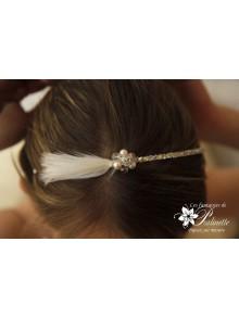 Serre-tête headband mariage Carlie