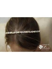 Diadème mariage, serre-tête perles, headband mariage perles et cristal