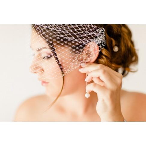 Accessoire voilette mariage - voilette amovible pour un effet style rétro