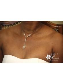 Anthéa collier pendentif plongeant en cristal