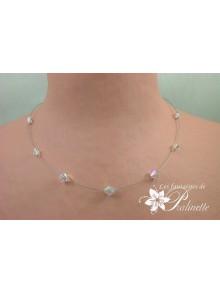 Berteline collier de mariée perles en cristal