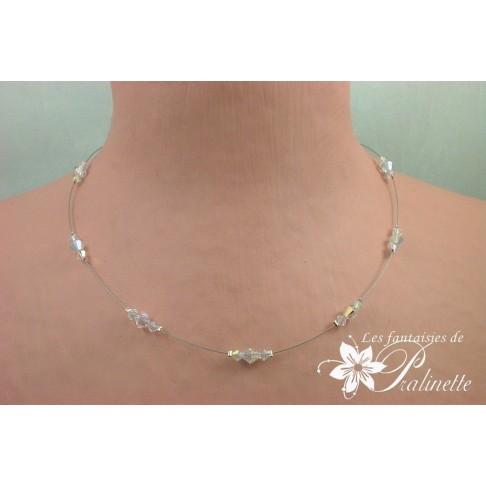 Cytel collier de mariée perles en cristal