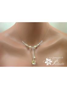 Nialine collier de mariage coeur en cristal