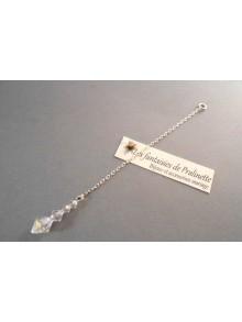 Bijoux de dos mariage Thémis pendentif perles en cristal