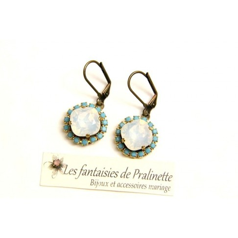 Boucles d'oreilles strass et cristal, bijoux mariage, bijoux intemporels, lovely bridemaids earrings