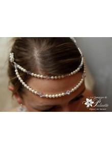 Laurinda bijoux de front mariage, accessoire coiffure mariée