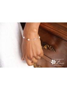 Bracelet de mariage Adéna perles en cristal