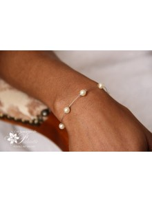 Bracelet Ange perles en cristal nacré