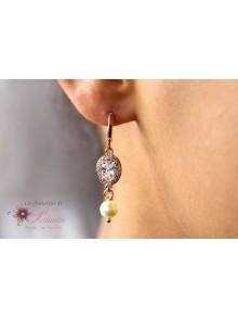 Boucles d'oreilles mariage Piotr ovales dorées