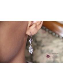 Boucles d'oreilles mariage Marcin gouttes en cristal
