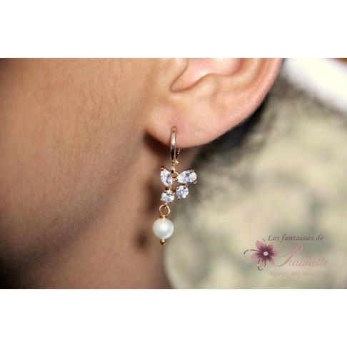 Lénaic boucles d'oreilles mariage bohème strass