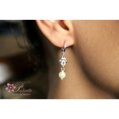 Boucles d'oreilles de mariage Hortense strass et cristal
