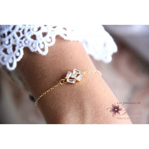 Adrian bracelet de mariage art déco