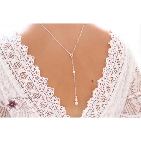 collier perle dos
