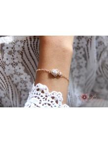 Bracelet Sindra doré champagne en oxydes de zirconium