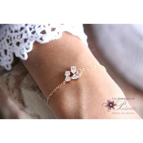 Bracelet de mariage Lénaic pour une mariée bohème