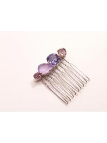 Peigne en cristal Alaman violet