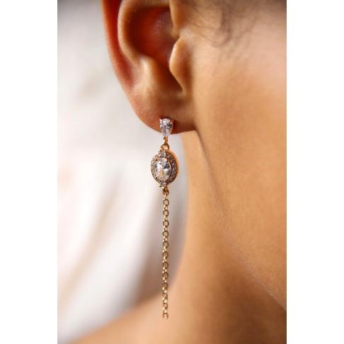Janaïs Bijoux de mariées boucles d'oreilles oxydes de zirconium