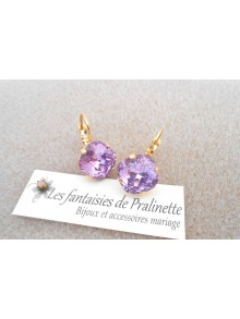 Boucles d'oreilles Soline violet