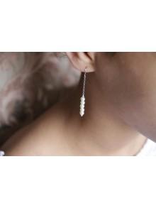 Boucles d'oreilles mariage cascade de perles Madiana