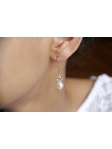 Boucles d'oreilles pour la mariée Apoline