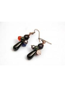 Boucles d'oreilles pierre naturelles onyx