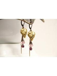 Boucles d'oreilles pendentes grappes de raisin
