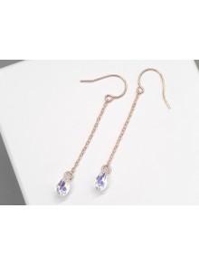 Boucles d'oreilles pendantes minimalistes en cristal