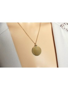 Collier grande médaille plaqué or